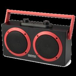 RADIO KARAOKE WIRELESS DAEWOO DSK-340R ROJO NEGRO 15W USB MICRO SD. Mod. DBF231