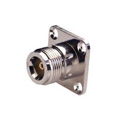 Conector N hembra fijación a tornillo para chasis. Mod. 1435