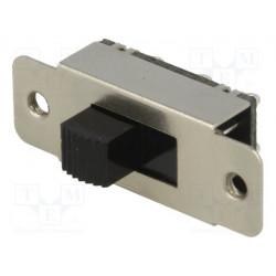 Conmutador deslizante 2 posiciones 1A/24VDC ON-ON. Mod. S22L