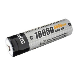 Pila linterna recargable 3.7V. Mod. BRC18650