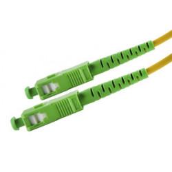 Cable fibra óptica. SC/APC-SC/APC. 9/125. 2 metros. Mod. 39.077/FIBRA/2