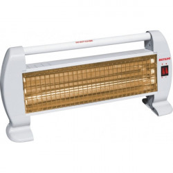 Estufa radiador de cuarzo blanca 1200W Bastilipo. Mod. QH-120