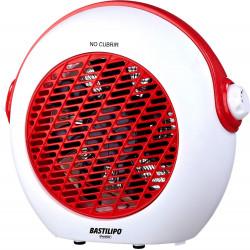 Termoventilador vertical blanco rojo 2000W Bastilipo. Mod. TVC-2000R