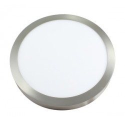 Plafón LED de superficie redondo 24W niquel luz dia. Mod. 81.650/NI/DIA