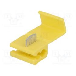 Conector enchufe rápido IDC 4÷6mm2 amarillo. Mod. ST-100/Y