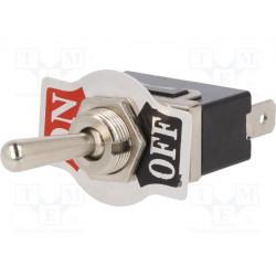 Interruptor de palanca Posiciones:2 SPST OFF-ON 10A/250VAC. Mod. TSP101APA1