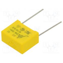 Condensador de polipropileno X2 220nF 15mm ±10% THT. Mod. JFZ-220N/310-P15