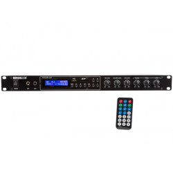 AMPLIFICADOR PA CON REPRODUCTOR MP3 - 2 x 100 W INTEGRA 200. MOD. HQAA10005