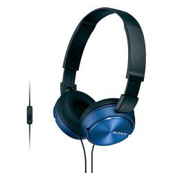 Auriculares de diadema con micrófono color azul Sony. Mod. MDRZX310APL