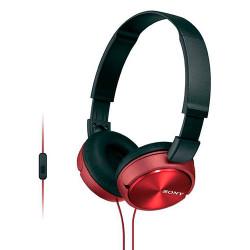 Auriculares de diadema con micrófono color rojo Sony. Mod. MDRZX310APR