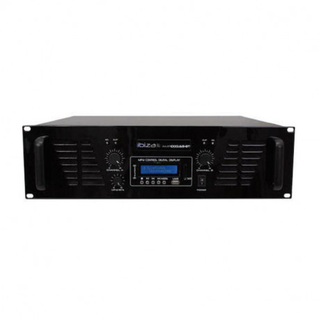 ETAPA DE POTENCIA IBIZA SOUND 2x800W USB/BLUETOOTH. Mod. AMP1000USB-BT
