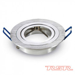 Aros para Dicroica Basculante Aluminio Rayado Redondo. Mod. 9144