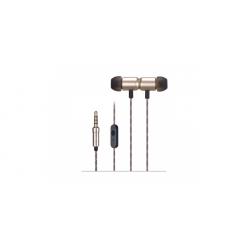 Auriculares in ear con micrófono dorados Fonestar. Mod. X4-D