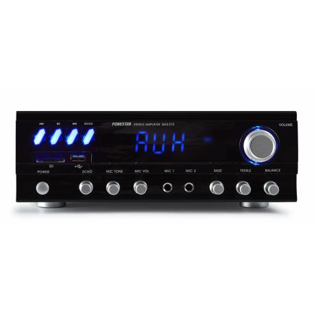 Amplificador karaoke BT/USB/SD/FM Fonestar. Mod. BAS-215