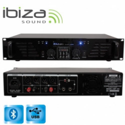 ETAPA DE POTENCIA IBIZA SOUND 2x240W USB/BLUETOOTH. Mod. AMP300USB-BT
