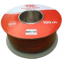 cable Altavoz Bicolor Rojo-Negro 2x100 mm