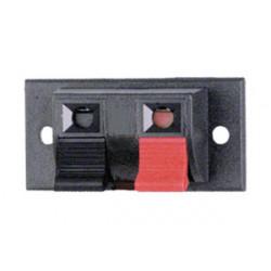 Regleta de altavoz 2 bornes + junta elástica. Mod. 10.642/2