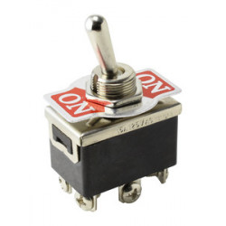 Conmutador de palanca ON-ON terminal faston. Mod. 11.464.C