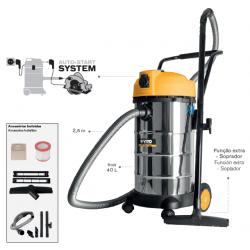 Aspirador industrial sólidos y líquidos 1200W 40L. Mod. VIASL40