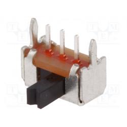 Interruptor deslizante 2 posiciones SPDT 0,1A/12VDC ON-ON. Mod. OS102011MA1QN1