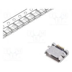 Conector hembra USB B micro PCB SMT PIN:5 horizontales. Mod. 10118192-0001LF/C