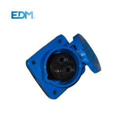 BASE EMPOTRAR CETAC 2P+T AZUL 16A 220V EDM. MOD. 46005