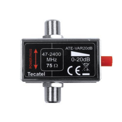 Atenuador Tecatel RF+FI variable, 20 dB, con. F. Mod. ATE-VAR20