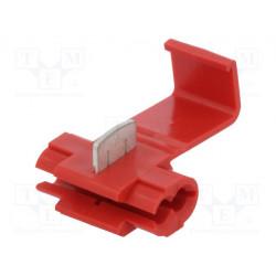 Conector enchufe rápido IDC 0,5÷1,5mm2 rojo. Mod. ST-100/R