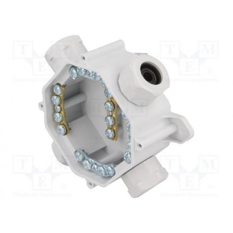 Caja estanca IP67 75x75x35mm c/bornas conexión. Mod. PW-A.0035