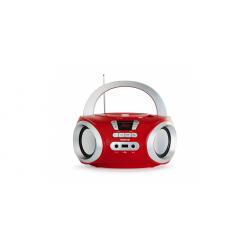 Radio CD bluetooth USB rojo Fonestar. Mod. BOOM-50R