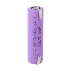 Batería recargable Li-Ion IRC14500, Con cto. de control. Mod. BAT533