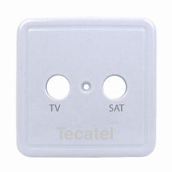 Carátula para tomas de 2 sal. Tecatel. Mod. TCP-02