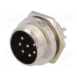 Conector hembra de micrófono macho chasis 7PIN. Mod. MIC337