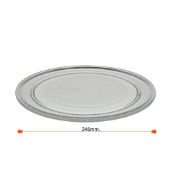 Plato microondas Ø 245 mm. Mod. PLAT0245