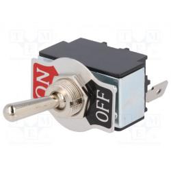 Interruptor de palanca 2 posiciones OFF-ON 20A/12VDC. Mod. R13-28A-01-HPH