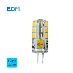 LÁMPARA G4 SILICONA 24 LED BI-PIN MR16 12V 2W 180LM 6400K. MOD. 98912