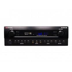 Amplificador 2x150W. 5 MIC, LINE, USB/SD/BT. Salida REC. Mod. MA500USB