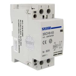 Contactor modular 2P NO 25A 230VAC SASSIN. Mod. 3SCH8-25