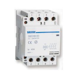 Contactor modular 4P NO 25A 230VAC SASSIN. Mod. 3SCH8-63