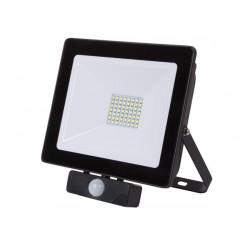 PROYECTOR LED C/ SENSOR PARA EXTERIORES 50 W BLANCO NEUTRO. MOD. LEDA6005NW-BP. Mod. EBP08PDU