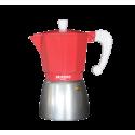Cafetera alumnio 6 tazas coral Bastilipo. Mod. COLORI6CO