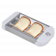 Tostador plano de 600W de 2 resistencias y termostato regulable Bastilipo. Mod. TPB-600