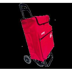 Carro compra 4 ruedas con Bolsa térmica 50l rojo Bastilipo. Mod. JULIAROJO