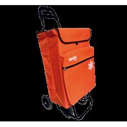Carro compra 4 ruedas con Bolsa térmica 50l naranja Bastilipo. Mod. JULIANARANJA