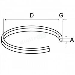 Polea cuadrada 82 x 2,2 x 2,2mm. Mod. PV092
