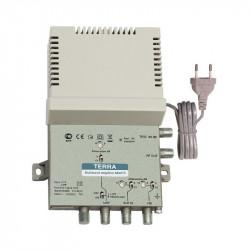 Central amplificadora multibanda 2E/1S VHF-UHF 47 dB Terra. Mod. TE-MA075L