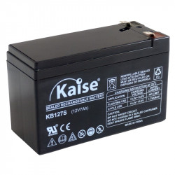 Batería plomo AGM 12V 7Ah F1Kaise. Mod. KB1270SECURITY