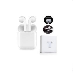 Auriculares inalámbricos bluetooth blancos. Mod. X8S-TWS