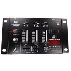 Mesa de mezclas 3 canales USB y Bluetooth Acoustic Control. Mod. MC 25 BT