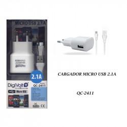 Cargador Micro Usb 2100 mA Digivolt. Mod. QC-2411